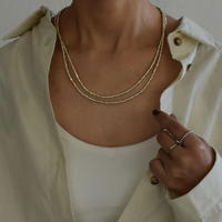 necklace-a02049 Three Cut  Long Necklace