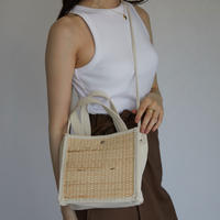 bag-a02001  Canvas Basket Shoulderbag