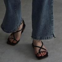 shoes-a02003 Square Cross Belt Sandals