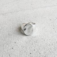 [INITIAL] Silver925 / シグネットリング・印台リング・エリプス / シルバー ごつめ カレッジリング