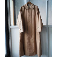AURALEE  COTTON SILK GABADINE LONG SOUTIEN COLLAR COAT (Womens)