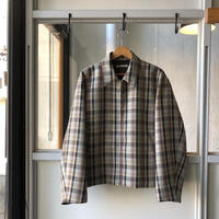 AURALEE  DOUBLE FACE CHECK ZIP BLOUSON