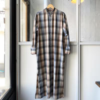 AURALEE  SUPER LIGHT WOOL CHECK MAXI ONE-PIECE (Womens) A20AD02LC
