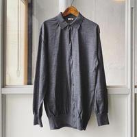 COMOLI  21G ウール衿つきカーディガン