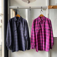 COMOLI   ウールシルク ワークシャツ  (U03-02010)