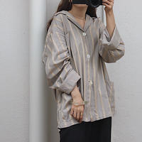 Stripe pajamas shirt