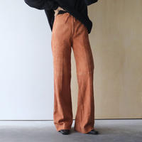 Orange suède pants