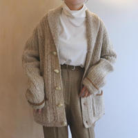 Beige knit jacket