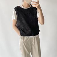 Glitter black tops