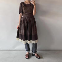 Brown frill one-piece