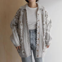 Pattern knit jacket