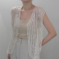 silk lace vest