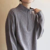 Purple half zip knit
