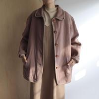 Dull pink felt jacket