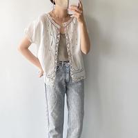 linen crochet shirt