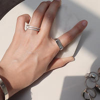 2line silver925 ring