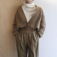 camel knit cardigan