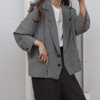 gingham check jacket