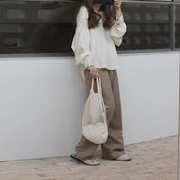 khaki easy pants