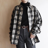 Monotone wool check shirt