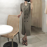 double button one-piece