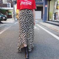 Dot mermaid asymmetry skirt