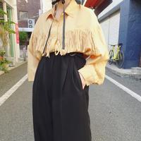 Fringe silk shirt