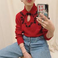 China glitter knit tops