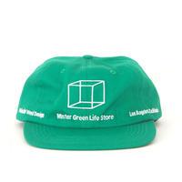 Mister Green / Minimalist Weed Design Shop Cap / Kelly