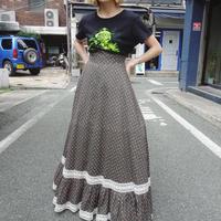 80s' High waist lace skirt