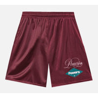 POWERS / Diamond Script Mesh Shorts / Maroon