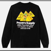 POWERS / Get A Grip Shop LS Tee / Black
