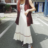 Lace-up western one-piece