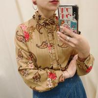 Paisley frill neck shirt