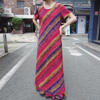Ethnic pattern long onepiece
