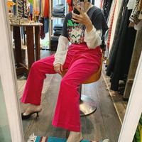 Pink velours pants