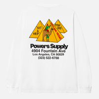 POWERS / Get A Grip Shop LS Tee / White