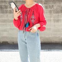 Ethnic embroidery shirt