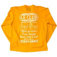 Le-Club / Homebase L/s T-shirt / Yellow