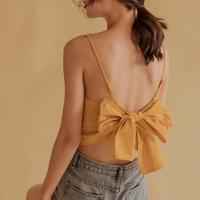 back  ribbon camisole/バック リボン キャミソール