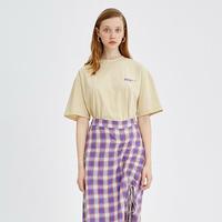beige back print t-shirt/ベージュ バックプリント Tシャツ