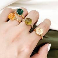 5pattern multi color crystal ring/5パターン マルチカラー クリスタルリング