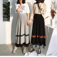 color scheme 2color long skirt/配色 2カラー ロングスカート