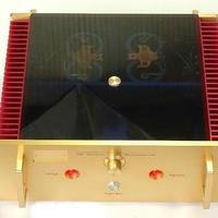 ニューバージョン パワーアンプ amp 200W ノーブランド レッド/ゴールド オマージュアンプ