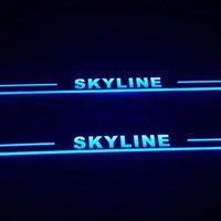 LEDスカッフプレート スカイライン フロントのみ 3色あり R32 R33 R34 R35