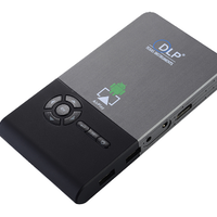 DLP方式 ミニプロジェクター 超小型、軽量で持ち運べて使いやすい  8GB