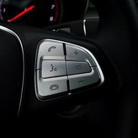 ステアリングスイッチ カバー メルセデスベンツ用  ABS クローム