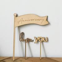 ケーキトッパー anniversary set