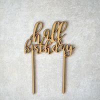 ケーキトッパー half birthday  品番4580638900027