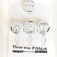 PiNMeN(三猿)缶バッヂセット